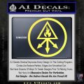 Red King Alchemy Occult Decal Sticker Yellow Vinyl 120x120