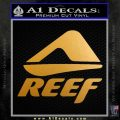 Reef Logo Name Decal Sticker D4 Metallic Gold Vinyl 120x120