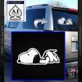 Snoopy Decal Sticker Sleeping Cute D2 White Vinyl Emblem 120x120