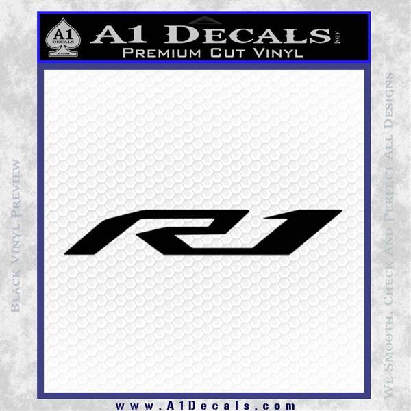 Yamaha R1 Logo 2015 Decal Sticker Black Vinyl Logo Emblem