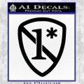 1 Ass To Risk Asterisk Decal Sticker V2 Black Vinyl Logo Emblem 120x120