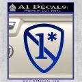 1 Ass To Risk Asterisk Decal Sticker V2 Blue Vinyl 120x120