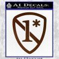 1 Ass To Risk Asterisk Decal Sticker V2 Brown Vinyl 120x120