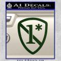1 Ass To Risk Asterisk Decal Sticker V2 Dark Green Vinyl 120x120