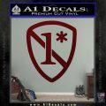 1 Ass To Risk Asterisk Decal Sticker V2 Dark Red Vinyl 120x120