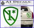 1 Ass To Risk Asterisk Decal Sticker V2 Green Vinyl 120x97