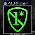 1 Ass To Risk Asterisk Decal Sticker V2 Lime Green Vinyl 120x120