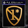 1 Ass To Risk Asterisk Decal Sticker V2 Metallic Gold Vinyl 120x120