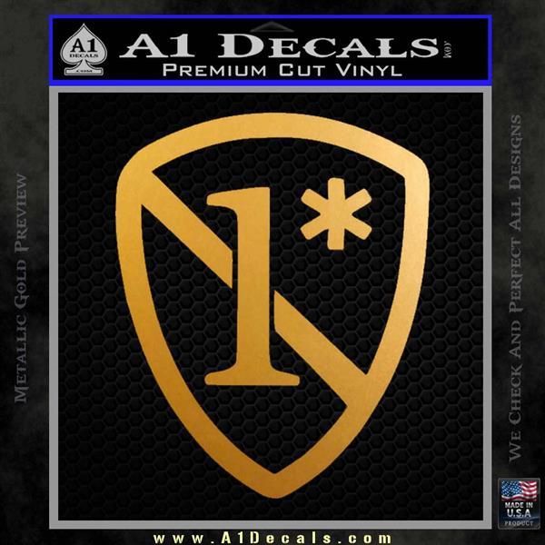 1 Ass To Risk Asterisk Decal Sticker V2 Metallic Gold Vinyl