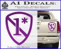 1 Ass To Risk Asterisk Decal Sticker V2 Purple Vinyl 120x97