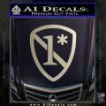 1 Ass To Risk Asterisk Decal Sticker V2 Silver Vinyl 120x120