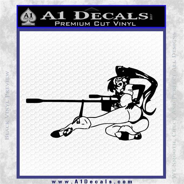 Anime Girl Gun Gurren Lagann Decal Sticker Black Vinyl Logo Emblem
