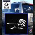 Anime Girl Gun Gurren Lagann Decal Sticker White Vinyl Emblem 120x120