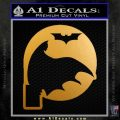 Badman Dark Knight On Ledge D2 Decal Sticker Metallic Gold Vinyl 120x120