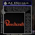 Beechcraft Decal Sticker Airplane Aero Orange Vinyl Emblem 120x120