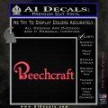 Beechcraft Decal Sticker Airplane Aero Pink Vinyl Emblem 120x120