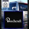 Beechcraft Decal Sticker Airplane Aero White Vinyl Emblem 120x120