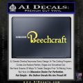 Beechcraft Decal Sticker Airplane Aero Yellow Vinyl 120x120