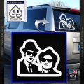Blues Brothers Decal Sticker DN White Vinyl Emblem 120x120