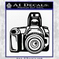 Camera Photography Decal Sticker INT Black Vinyl Logo Emblem 120x120