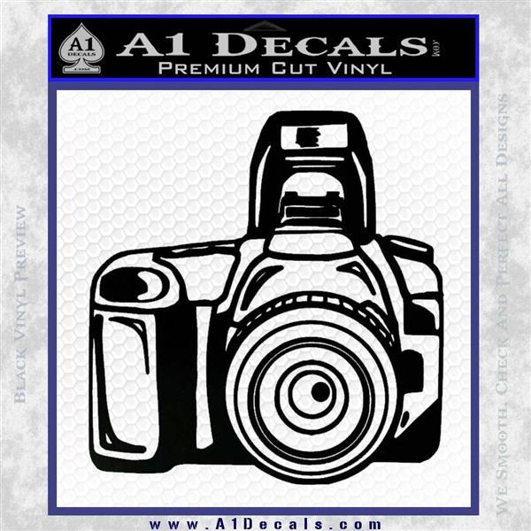 Camera Photography Decal Sticker INT Black Vinyl Logo Emblem