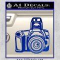 Camera Photography Decal Sticker INT Blue Vinyl 120x120
