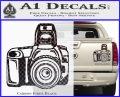 Camera Photography Decal Sticker INT Carbon Fiber Black 120x97