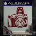 Camera Photography Decal Sticker INT Dark Red Vinyl 120x120