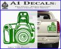 Camera Photography Decal Sticker INT Green Vinyl 120x97