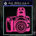 Camera Photography Decal Sticker INT Hot Pink Vinyl 120x120