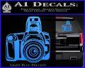Camera Photography Decal Sticker INT Light Blue Vinyl 120x97
