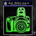 Camera Photography Decal Sticker INT Lime Green Vinyl 120x120