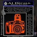 Camera Photography Decal Sticker INT Orange Vinyl Emblem 120x120