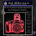 Camera Photography Decal Sticker INT Pink Vinyl Emblem 120x120