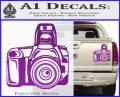 Camera Photography Decal Sticker INT Purple Vinyl 120x97