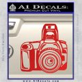 Camera Photography Decal Sticker INT Red Vinyl 120x120