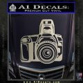 Camera Photography Decal Sticker INT Silver Vinyl 120x120