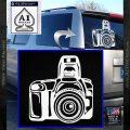 Camera Photography Decal Sticker INT White Vinyl Emblem 120x120