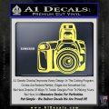 Camera Photography Decal Sticker INT Yellow Vinyl 120x120