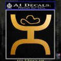 Cowboy Hooey Decal Sticker D1 Metallic Gold Vinyl 120x120