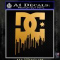 DC Shoes Drip Decal Sticker Metallic Gold Vinyl 120x120