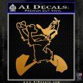 Daffy Decal Sticker Loney Tunes Metallic Gold Vinyl 120x120