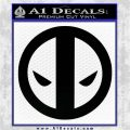 Dead Fool Decal Sticker Deadpool Black Vinyl Logo Emblem 120x120