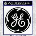 GE General Electric Decal Sticker Logo Black Vinyl Logo Emblem 120x120