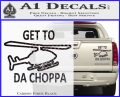 Get to the Choppa Decal Sticker Schwarzenegger COMMANDO Movie Carbon Fiber Black 120x97