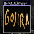Gojira Godzilla Decal Sticker Metallic Gold Vinyl 120x120