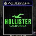 Hollister Decal Sticker California ST1 Lime Green Vinyl 120x120