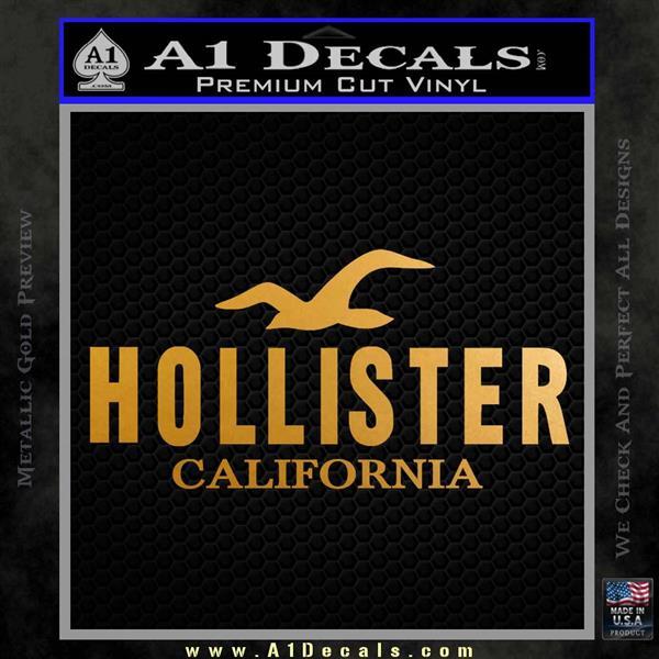 Hollister Decal Sticker California ST1 Metallic Gold Vinyl