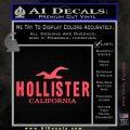 Hollister Decal Sticker California ST1 Pink Vinyl Emblem 120x120