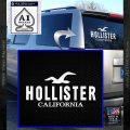 Hollister Decal Sticker California ST1 White Vinyl Emblem 120x120